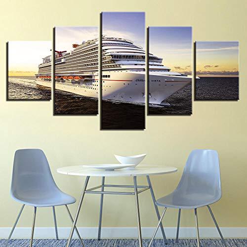 rkmaster-Modern canvas foto HD afdrukken wandafbeeldingen woonkamer decoratie 5 stuks boot schip zeeland kruisvaart poster frame