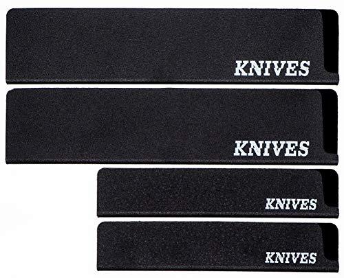Knives Messerschutz Universal Set 4-Stück für Messer, Brotmesser, Schinkenmesser, Gemüsemesser, Kochmesser, perfekt als Klingenschutz für die Schublade