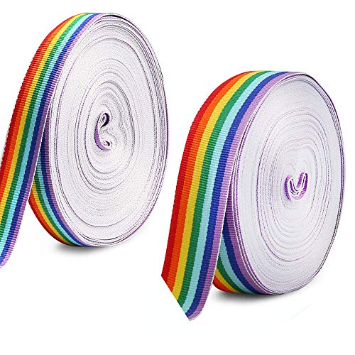 Schleifenband Regenbogen, Breite Regenbogen Band, seidenbänder dekoband, Geschenkband Dekoration, Hochzeit Geschenk Verpackung Karten Handwerk(40m)