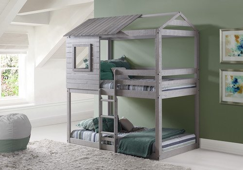 Play House Bunk Beds - Free Storage Pockets