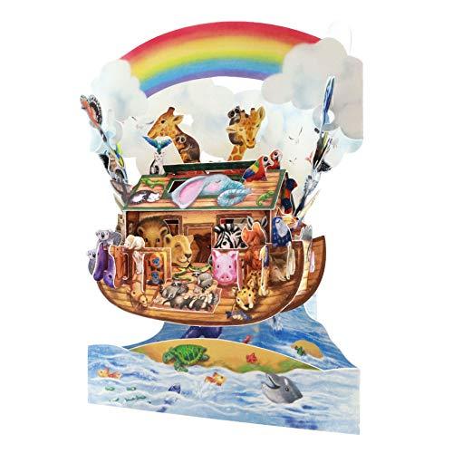 Santoro 3D-Pop-Up-Grußkarte für Kinder, Arche Noah
