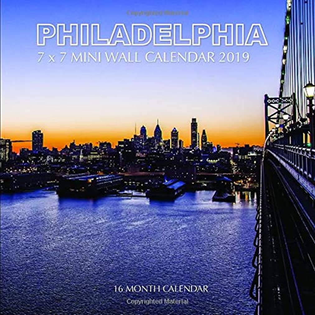 瞑想的エクステントほかにPhiladelphia 7 x 7 Mini Wall Calendar 2019: 16 Month Calendar