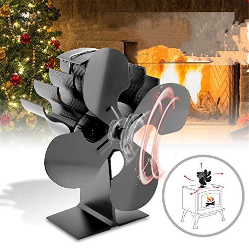 CRZJ Ventilador Estufa de leña Fan de Madera de la Chimenea del Ventilador termodinámico portátil, Auto-Alimentado ambientalmente