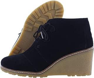 Women's Desert Wedge Crepe Black Suede Shoes 8.5