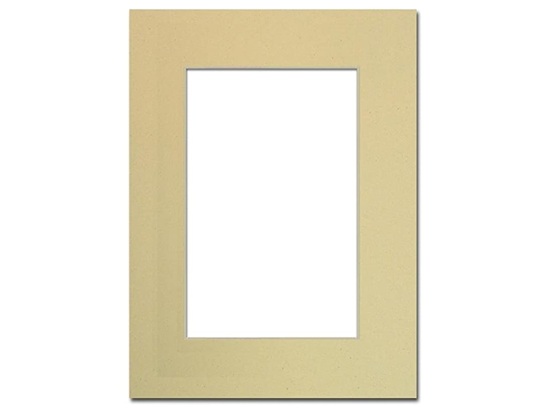 PA Framing, Single Mat, 9 x 12 inches Frame for 6 x 9 inches Photo Art Size - Cream Core/Beach