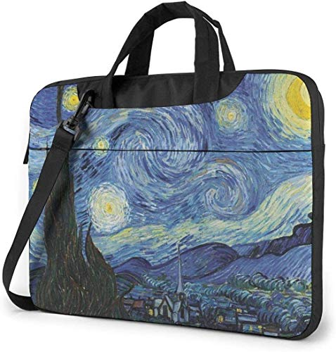 Starry-Night Laptop Bag Shockproof Briefcase Shoulder Bags Carrying Case Laptop 15.6 inch