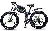 Bicicleta eléctrica de nieve, Bicicleta de montaña eléctrica plegable bicicletas híbridas / (36V8ah) 21 Velocidad 5 Frenos Power System velocidad de disco mecánico de 26 pulgadas Lock, Frente Tenedor