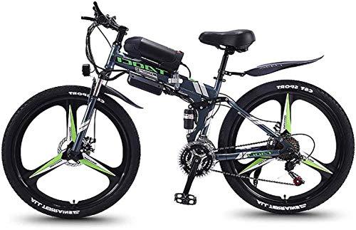 RDJM Bici electrica Bicicleta de montaña eléctrica Plegable Bicicletas híbridas / (36V8ah) 21 Velocidad 5 Frenos Power System Velocidad de Disco mecánico de 26 Pulgadas Lock, Frente Tenedor absorción