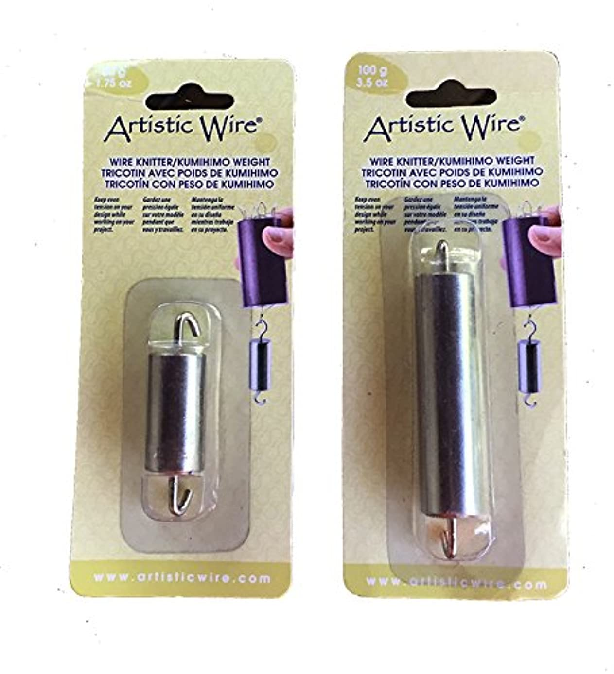 Beadalon Artistic Wire Knitter/Kumihimo Weights, Set of 2, 50g and 100g, Small and Large