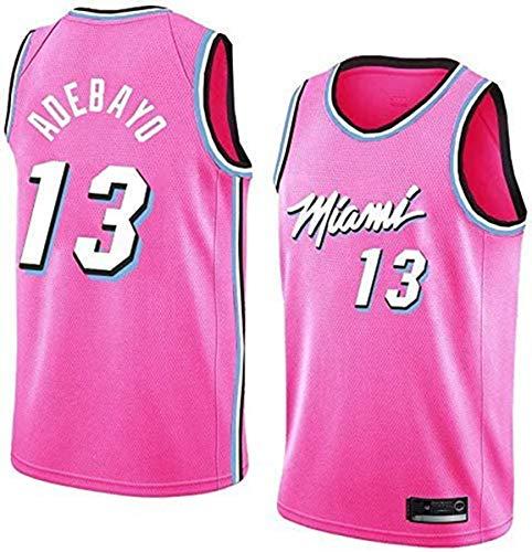 GIHI Camiseta De La NBA para Hombre - Camisetas De Miami Heat NBA 13# Bam Adebayo - Ropa De Entrenamiento De Baloncesto De Malla Bordada Retro,B,XL(180~185CM/85~95KG)