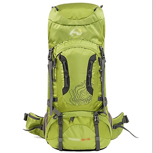 Outdoor 60L + 10L / 70L + 10L sac d'alpinisme sac à bandoulière grande capacité ( Couleur : Vert , taille : 70+10L )