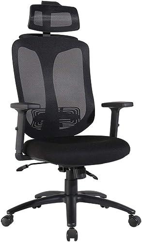 Chaises de bureau Chaise d'ordinateur à Domicile Chaises Chaise Ergonomique Siège Peut soulever rougeation à 360 ° Peut Supporter 200 kg (Couleur   noir, Taille   62  62  117-130cm)