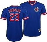 Ryne Sandberg Chicago Cubs Blue Youth Cooperstown V-Neck Mesh Jersey (Large 14/16)