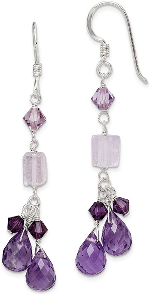 FB Jewels Solid 925 High order Sterling Cry Lavender Silver Quartz Finally resale start Amethyst