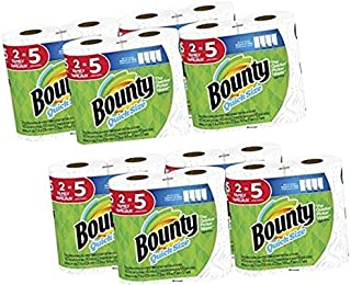 Bounty Quick-Size Paper Towels, White, 16 Family Rolls = 40 Regular Rolls (2)