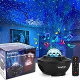 kungfuren - Proyector de cielo estrellado con nube de niebla LED, proyector LED, altavoz de música integrado, lámpara de cielo estrellado para fiestas, Navidad, Pascua, Halloween, niños y adultos