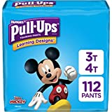 Pull-Ups Learning Designs Potty Training Pants for Boys, Size 3T-4T (32-40 Pounds), 112 Count, One Month Supply (Packaging May Vary)