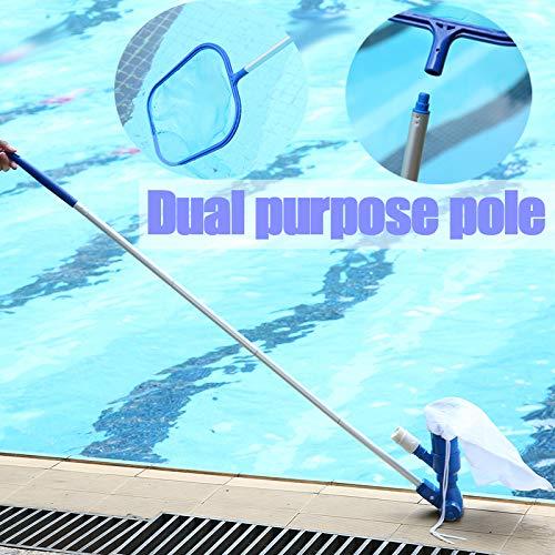 JKYQ Pool Reinigungs-Kits Wartungstools Unterwasserreiniger Vakuum Strahlreinigungskopf Netto-Teich Aquarium Aquarium Brunnen Skimming Netz fischen