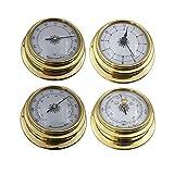 Juego de estación meteorológica, 4 unidades, portátil, barómetro, reloj, reloj,...
