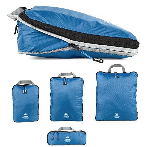 Outdoor Panda Packtaschen Set mit Kompression | Ultraleichte Packwürfel für Rucksack und Koffer | Wasserabweisende Compression Packing Cubes als