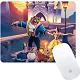 DISNEY COLLECTION Square Computer Game Mouse Pad Cartoon Cute Beast Dances with Beauty Smooth Surface Lightweight Skid Proof Rubber High Mouse Tracking