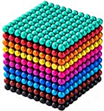 Abcukd M-agnetic Balls 1000 Pieces 3D Puzzle M-agnet Educational Toys M-agnets Balls Stacking Toys Intelligence Development for Kids(5 Millimeter)