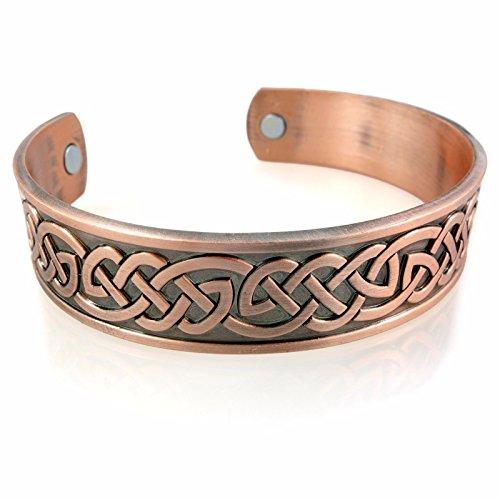 URBANTIMBER Magnetischer Wikinger Armreif Keltische Knoten - Silber/Bronze / Gold