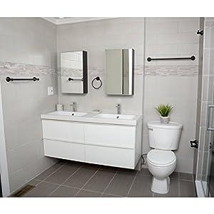 AmazonBasics Modern Bathroom Accessories Set - 5-Piece, Oil-Rubbed Bronze