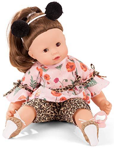 Götz 2027198 Maxy Muffin Catness Puppe - 42 cm große Babypuppe mit braunen Schlafaugen, braune Haare und Weichkörper - Weichkörperpuppe in 8-teiligen Set