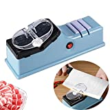 Electric Knife Sharpener Multifunctional Kitchen Chef Edge Sharpening Machine 4-in-1 with Protective Cover 110V for Knives and Scissors