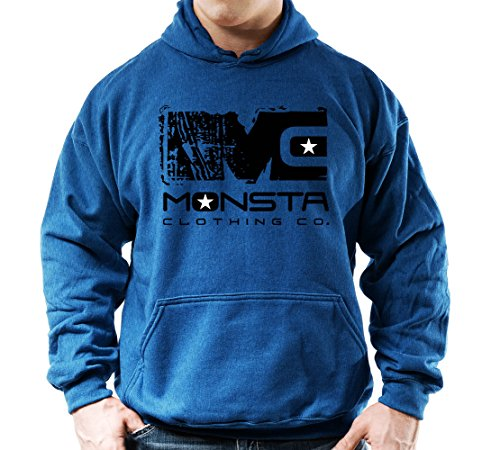 Mens Monsta Clothing Fitness Gym Zipper Hoodie Pain is Fuel