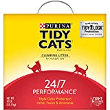 One (1) 40 lb. Box - Purina Tidy Cats Clumping Cat Litter, 24/7 Performance Multi Cat Litter If you loved this Tidy... try searching code B07GWGFG2X or B07P62XXS9 for more great options! Slow-release deodorizing system ensures continuous odor control...