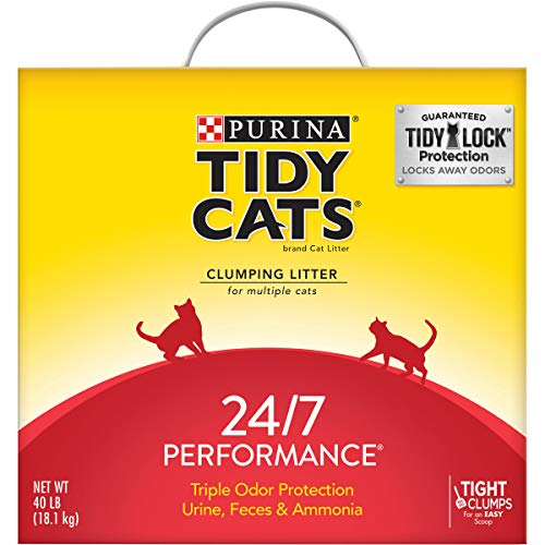 Purina Tidy Cats Clumping Cat Litter, 24/7 Performance Multi Cat Litter - 40 lb. Box