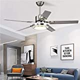 WHYIN Moden 5 Stainless Steel Ceiling Fans with Lights