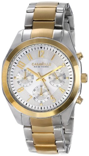Caravelle New York Damen-Armbanduhr 45L136, analoges Display, Japanisches Quarzuhrwerk, zweifarbig