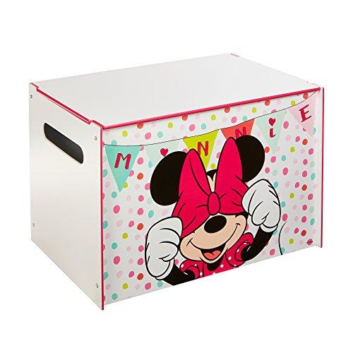 Mickey Mouse Minnie Mouse - Spielzeugkiste für Kinder – Aufbewahrungsbox für das Kinderzimmer, One Size