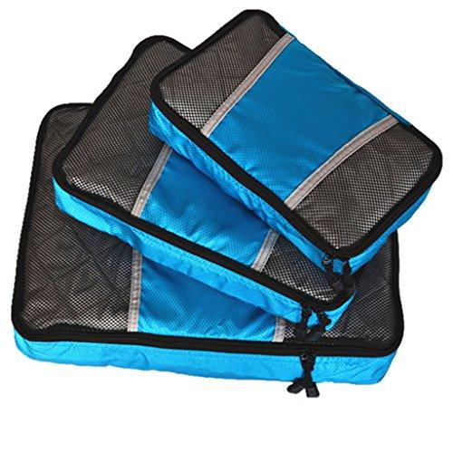Sharplace 3X Sac de Voyage S + M + L Trousse Rangement Vêtement Sport Camping Accessoire