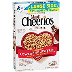 Maple Cheerios, Gluten Free Cereal with Whole Grain Oats, 14.2 oz Box