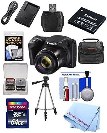 Canon PowerShot SX420es de 20Mp WiFi Cámara Digital con Zoom 42x (negro) Incluye: Canon NB-11LH batería & Canon Cargador + 9pc 32GB Deluxe Kit de accesorios w/Extreme Electronics paño