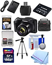 Canon Powershot SX420 IS 20 MP Wi-Fi Digital Camera with 42x Zoom (Black) Includes: Canon NB-11LH Battery & Canon Charger + 9pc 32GB Deluxe Accessory Kit w/Extreme Electronics Cloth