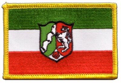 Aufnäher Patch Flagge Deutschland Nordrhein Westfalen - 8 x 6 cm