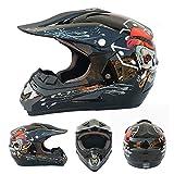 Helmets Casco da Motocross Adulto Casco Cross Casco Integrale MTB PRO Casco Motociclista per Downhill Moto Offroad Scooter Sport con Fodera Rimovibile/DOT