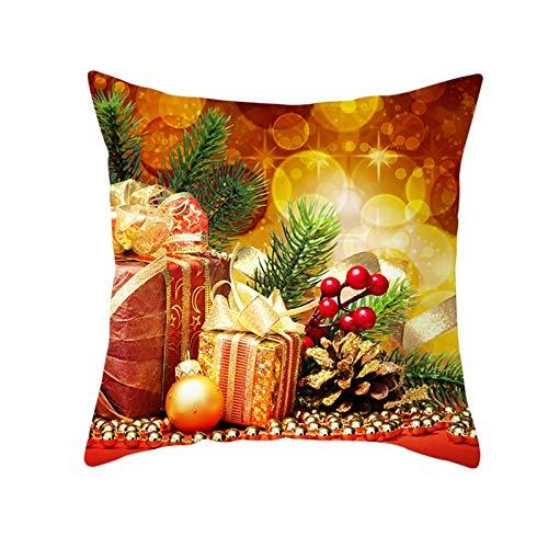 Beydodo Fundas Grandes Cojin Navidad,1 Pieza de Fundas de Cojines Fundas Cojines 50X50 Sofa, Conos de Pino Naranja Oro