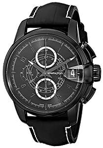 Hamilton Men's H40686335 Rail Road Black Chronograph Dial Watch image