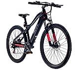 Bicicletta Elettrica Pedalata Assistita, Nera e rossa, 250 W, Batteria 360 Wh, Unisex Adulto, KAPPA URBAN MOBILITY