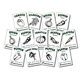 Organic Salsa Garden Seed Kit - 13 Varieties of Heirloom Non-GMO Vegetable Herb and Pepper Seeds -...