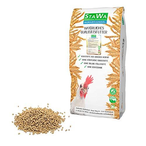 STAWA Hühnerfutter Alleinfutter mit natürlichem Milbenkomplex, 4 mm Pellets, ohne Gentechnik, ohne künstliche Konservierungs- und Farbstoffe, 25 kg
