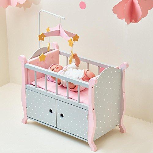 Culla armadietto Arredamento Legno per Bambole 45 cm Olivia's World TD-0206AG