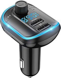 MERIGLARE Transmissor Bluetooth para Carro BT5.0 Transmissor FM MP3 Player Mãos Livres