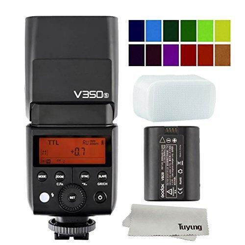 Godox V350S Li-Ion batteriebetriebenes 2.4G drahtloses Mini-TTL Speedlite-Blitz für Sony A77, A77 II, A7R, A7R II, A7R III, ILCE-6000L, RX10 MI Schuh-Digitalkameras
